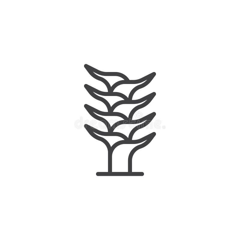 Icône d'ensemble de tige d'aloès illustration libre de droits