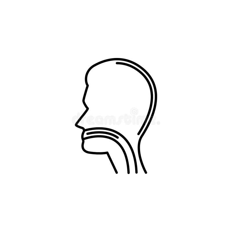 Icône d'ensemble de trachée d'organe humain Des signes et les symboles peuvent être employés pour le Web, logo, l'appli mobile, U illustration stock
