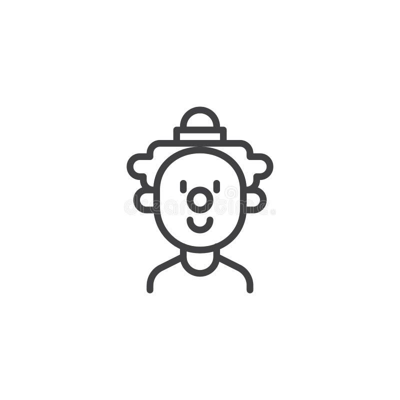 Icône d'ensemble de visage de clown illustration libre de droits
