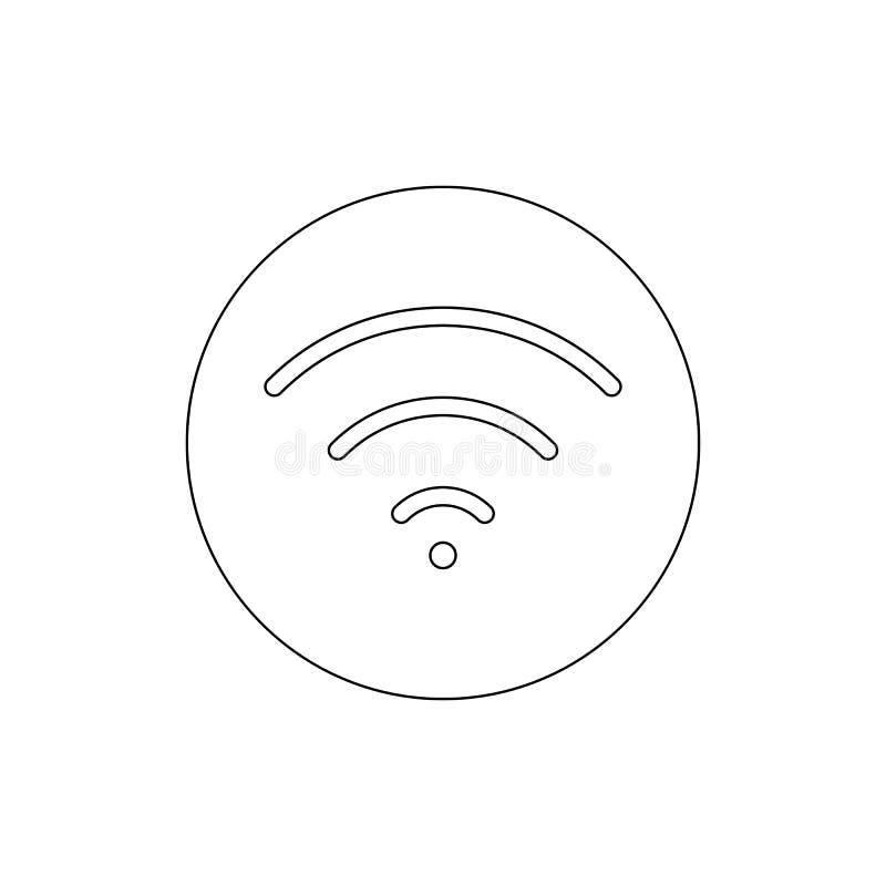 Icône d'ensemble de WI fi d'alimentation Des signes et les symboles peuvent ?tre employ?s pour le Web, logo, l'appli mobile, UI,  illustration stock