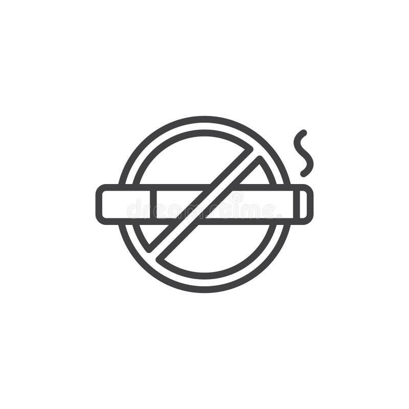 Icône d'ensemble de zone non-fumeurs illustration de vecteur