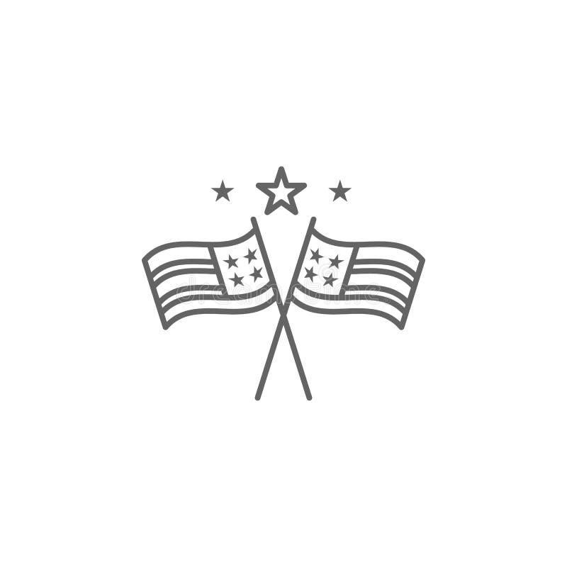 Icône d'ensemble des Etats-Unis d'étoiles de drapeaux Des signes et les symboles peuvent ?tre employ?s pour le Web, logo, l'appli illustration libre de droits