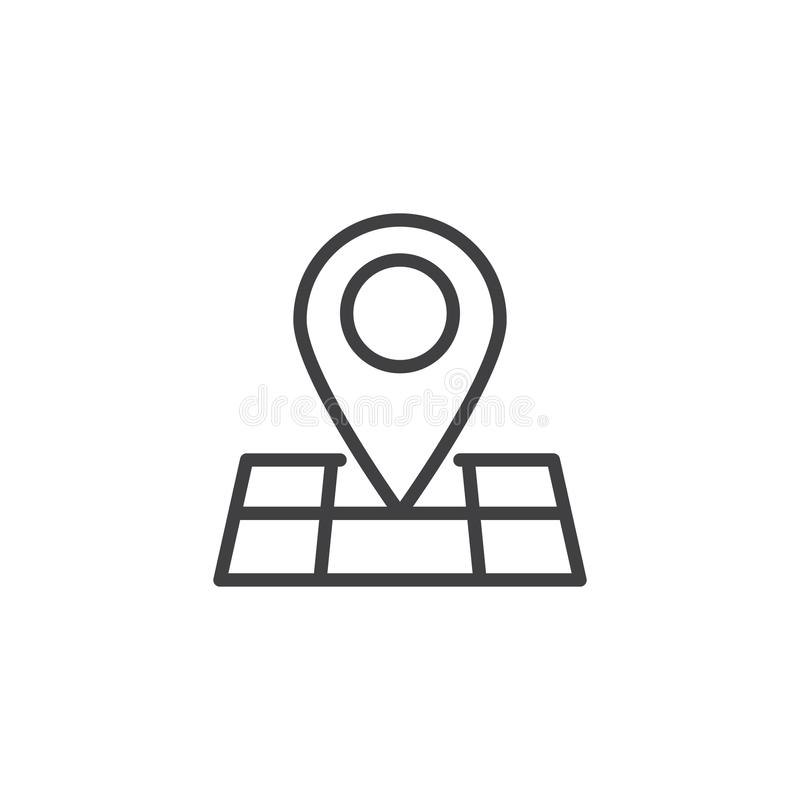 Icône d'ensemble d'emplacement de goupille de carte illustration de vecteur