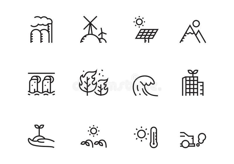 Icône d'ensemble d'environnement, vecteur illustration libre de droits