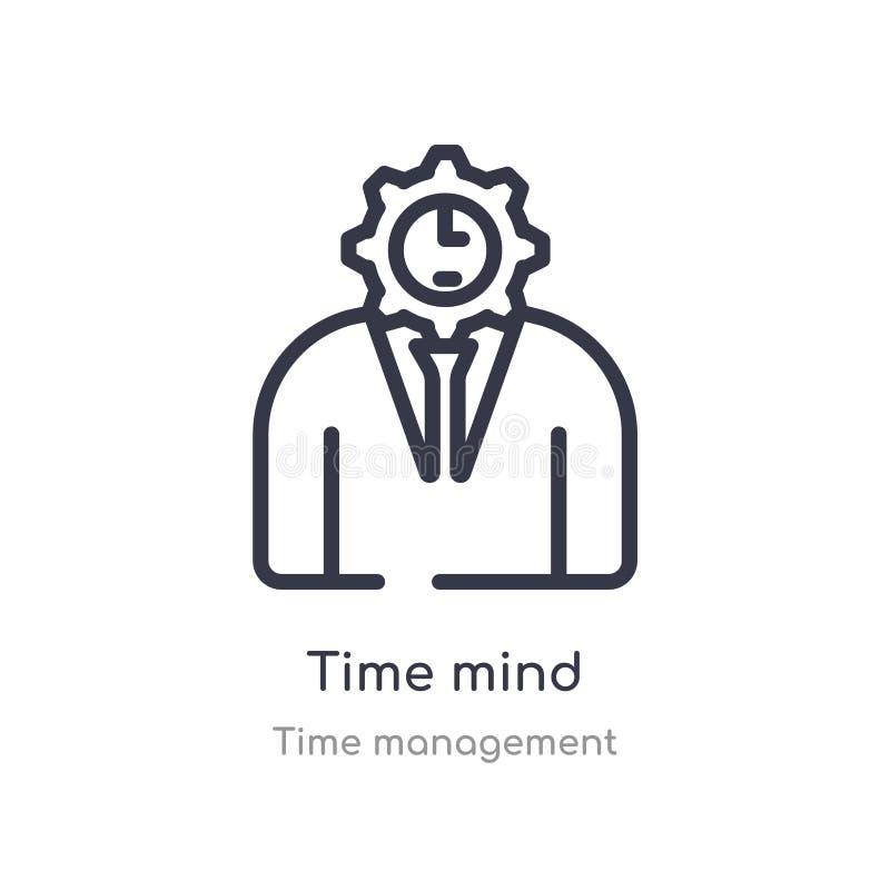 icône d'ensemble d'esprit de temps ligne d'isolement illustration de vecteur de collection de gestion du temps icône mince editab illustration stock