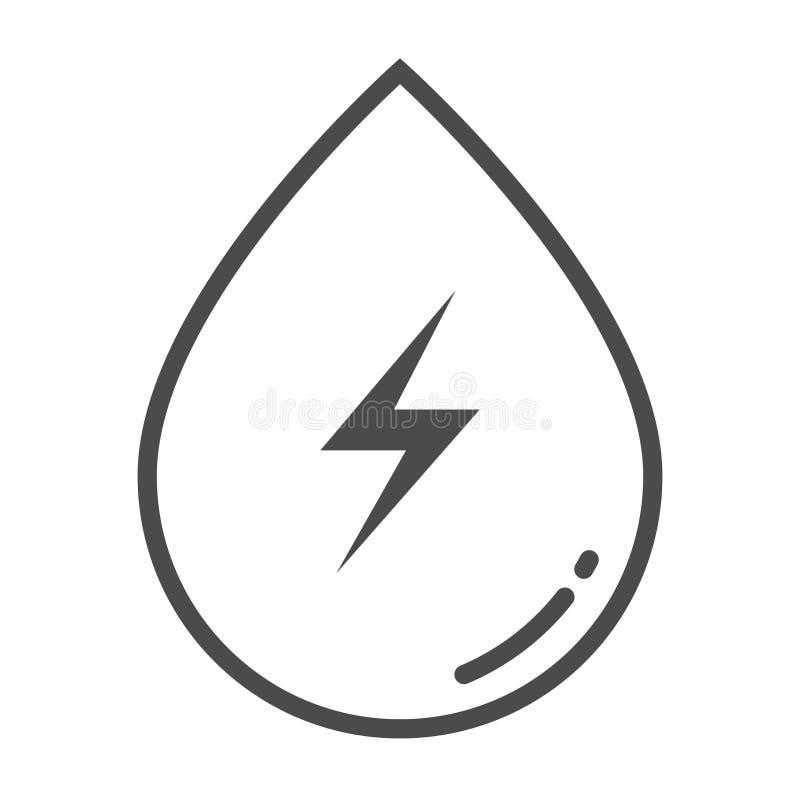 Icône d'ensemble d'hydroélectricité Élément d'icône de protection de l'environnement avec le nom pour des applis mobiles de conce illustration libre de droits