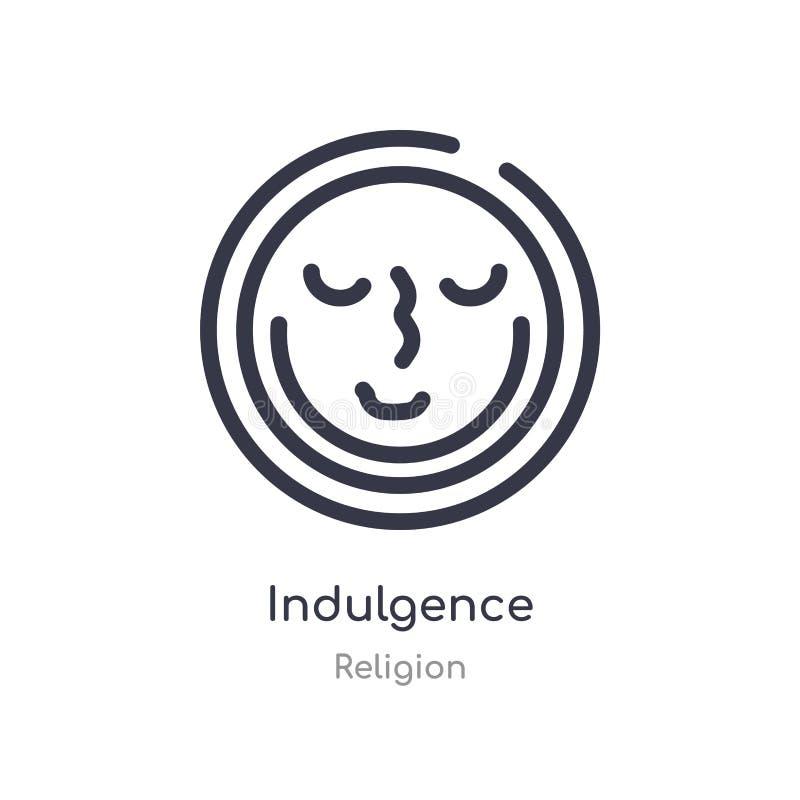 icône d'ensemble d'indulgence ligne d'isolement illustration de vecteur de collection de religion icône mince editable d'indulgen illustration libre de droits
