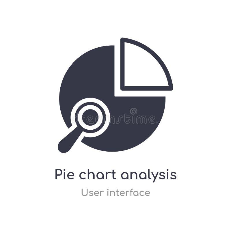 icône d'ensemble d'interface d'analyse de graphique circulaire ligne d'isolement illustration de vecteur de collection d'interfac illustration libre de droits