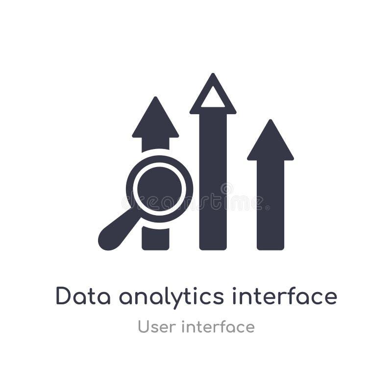 icône d'ensemble d'interface d'analytics de données ligne d'isolement illustration de vecteur de collection d'interface utilisate illustration libre de droits