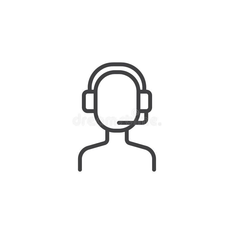 Icône d'ensemble d'opérateur de centre d'appels illustration de vecteur