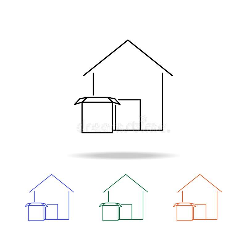 Icône d'entrepôt Éléments des immobiliers dans les icônes colorées multi Icône de la meilleure qualité de conception graphique de illustration de vecteur