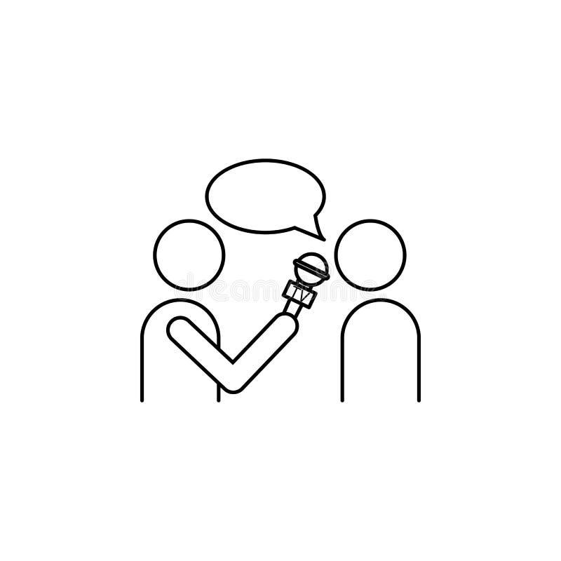 Icône d'entrevue Élément de journaliste pour l'illustration mobile d'apps de concept et de Web Illustration pour la conception et illustration libre de droits