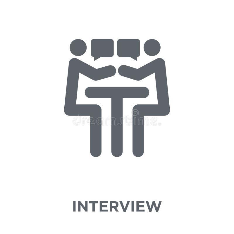 Icône d'entrevue de collection de ressources humaines illustration stock