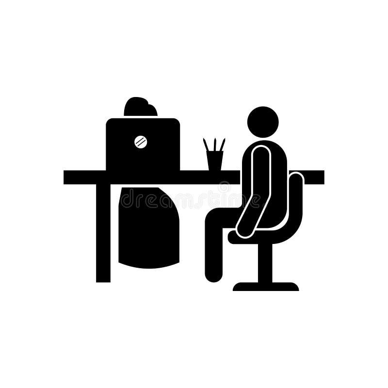 Icône d'entrevue d'emploi ? icône d'élément d'ommunication Conception graphique de qualité de la meilleure qualité Signes et icôn illustration de vecteur