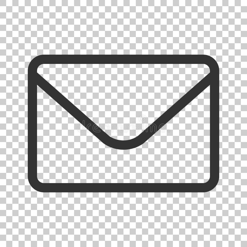 Icône d'enveloppe de courrier dans le style plat Recevez le vect de Spam de lettre d'email illustration libre de droits