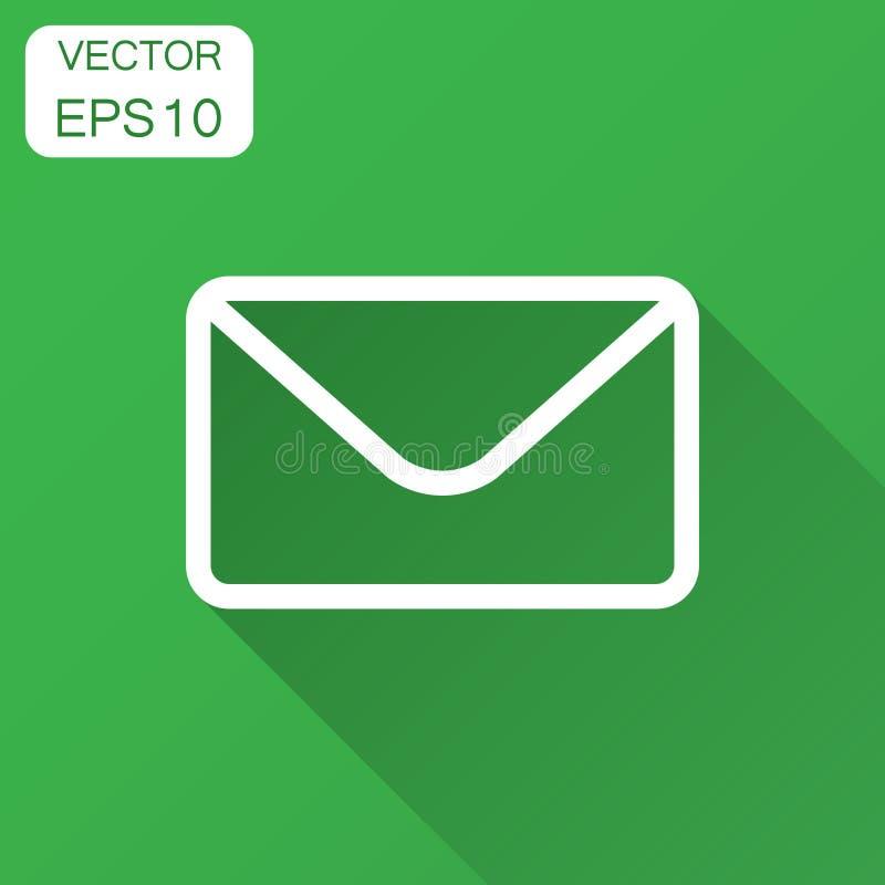 Icône d'enveloppe de courrier dans le style plat Recevez le vect de Spam de lettre d'email illustration de vecteur