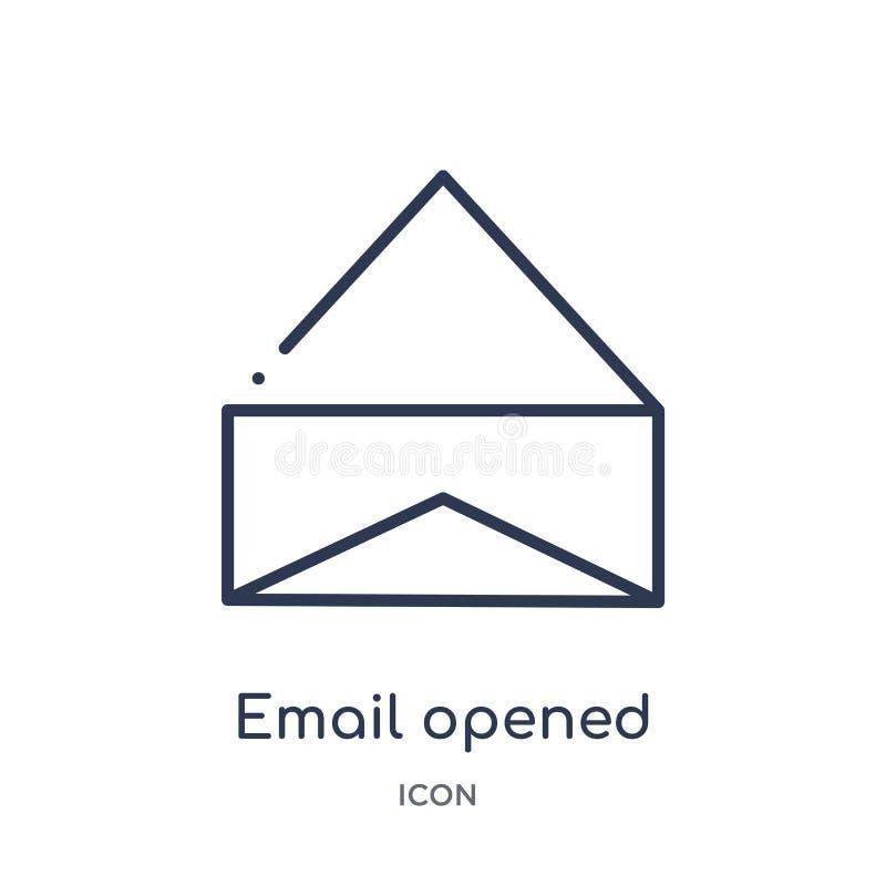 icône d'enveloppe ouverte par email de collection d'ensemble d'interface utilisateurs La ligne mince email a ouvert l'icône d'env illustration libre de droits