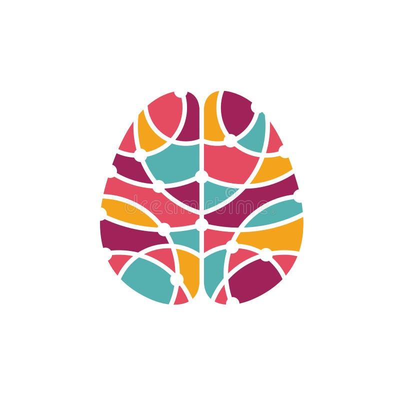 Icône d'esprit humain Concept de recherches de cerveau illustration de vecteur