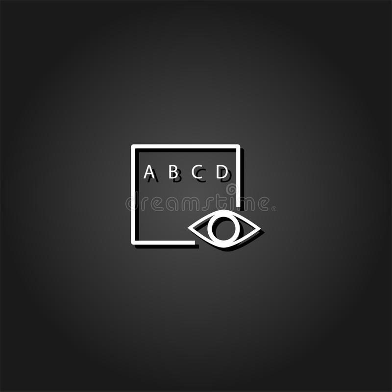 Icône d'essai d'oeil plate illustration stock