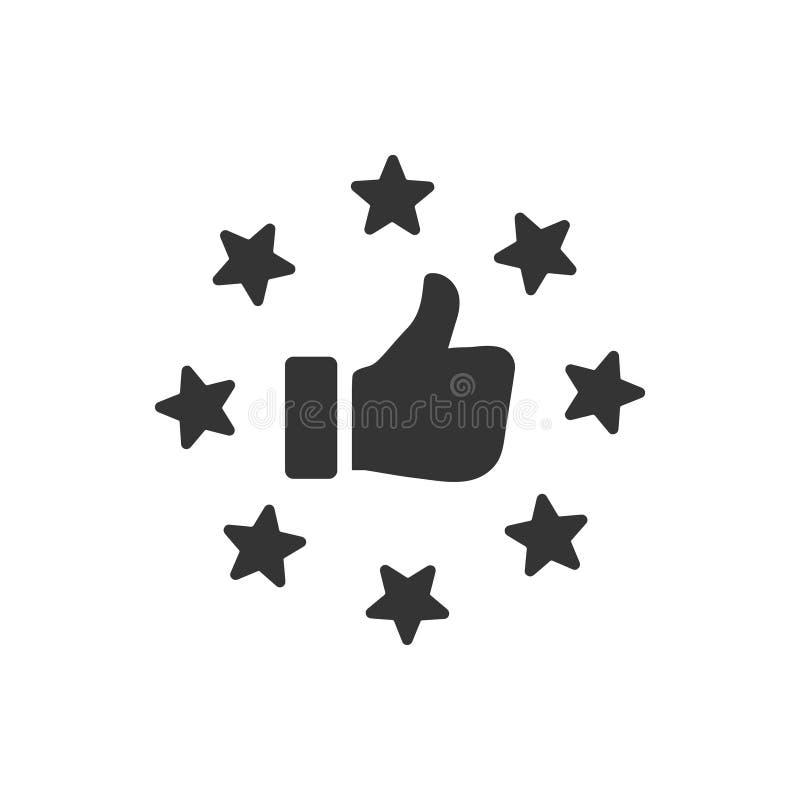 Icône d'examen de client illustration stock