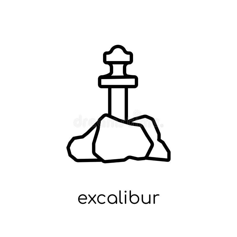 Icône d'Excalibur Icône linéaire plate moderne à la mode d'Excalibur de vecteur illustration de vecteur