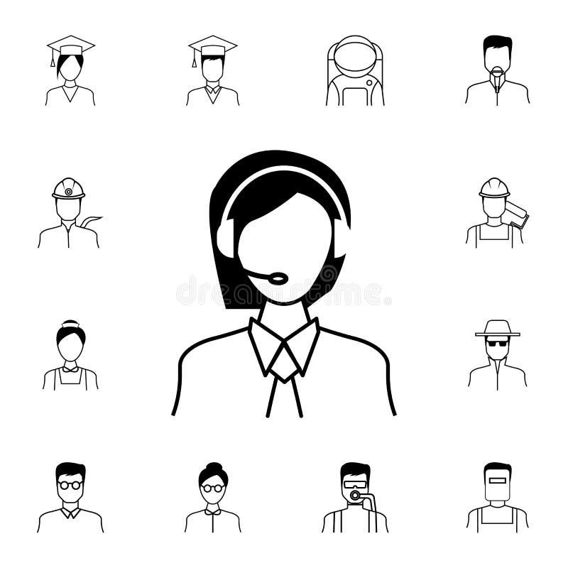 Icône d'expéditeur Ensemble détaillé d'icônes de Proffecions Signe de la meilleure qualité de conception graphique de qualité Une illustration de vecteur