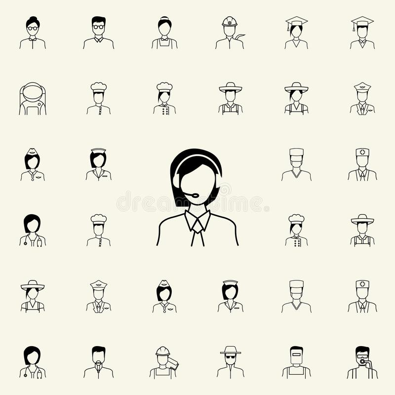 Icône d'expéditeur Ensemble universel d'icônes de Proffecions pour le Web et le mobile illustration libre de droits