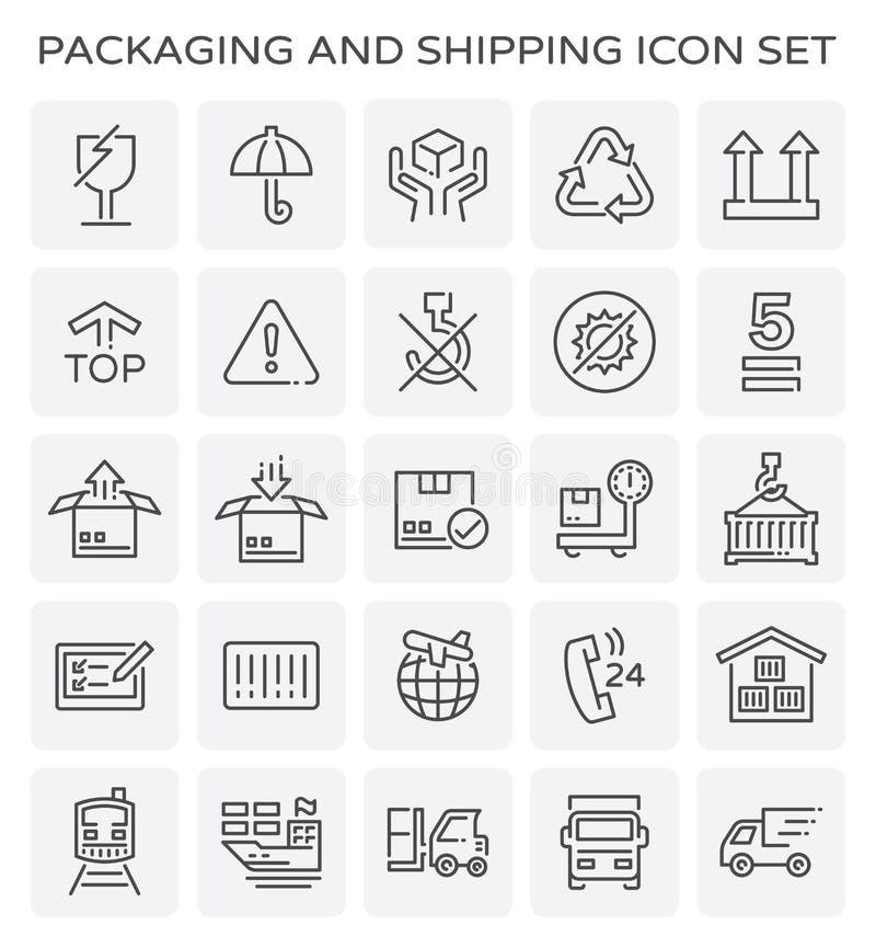 Icône d'expédition d'emballage illustration stock