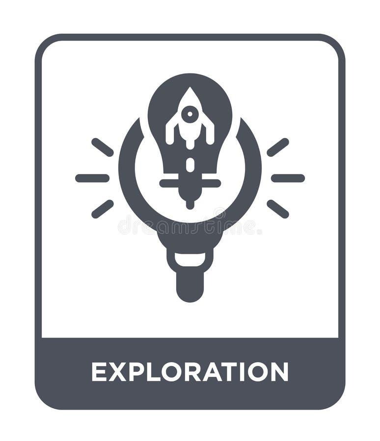 icône d'exploration dans le style à la mode de conception icône d'exploration d'isolement sur le fond blanc icône de vecteur d'ex illustration stock