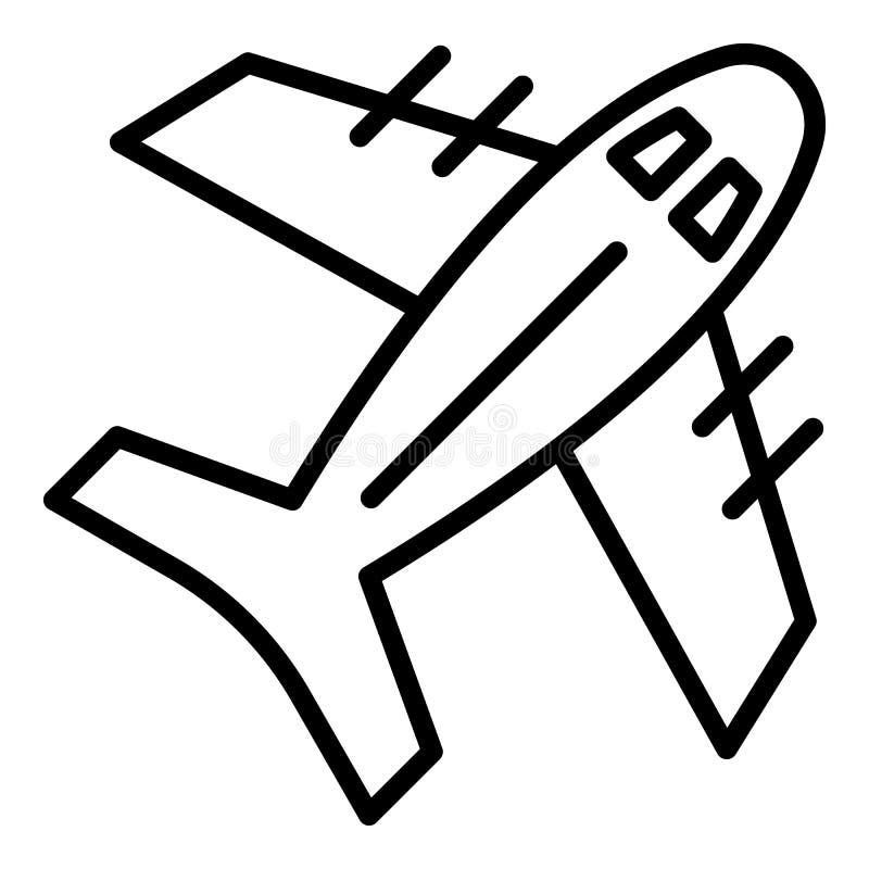 Icône d'exportation d'air, style d'ensemble illustration stock