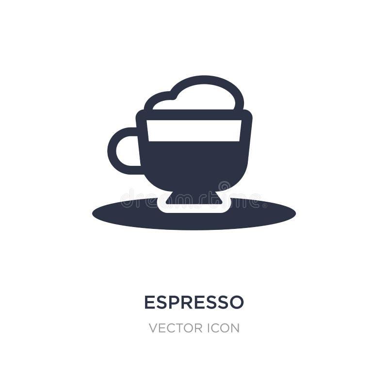 icône d'expresso sur le fond blanc Illustration simple d'élément de concept de boissons illustration stock