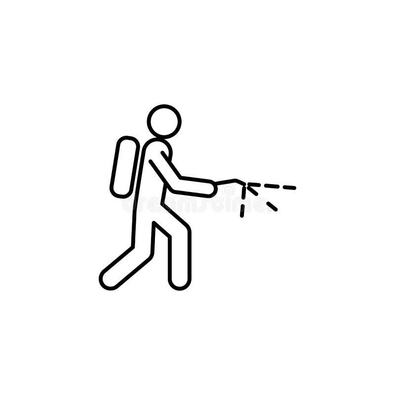 icône d'exterminateur Élément d'icône de parasite pour les apps mobiles de concept et de Web La ligne mince icône d'exterminateur illustration de vecteur
