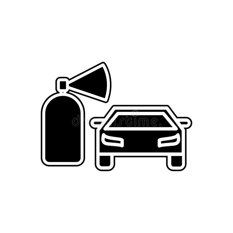 icône d'extincteur de voiture Élément des voitures service et des pièces de réparation pour le concept et l'icône mobiles d'appli illustration libre de droits