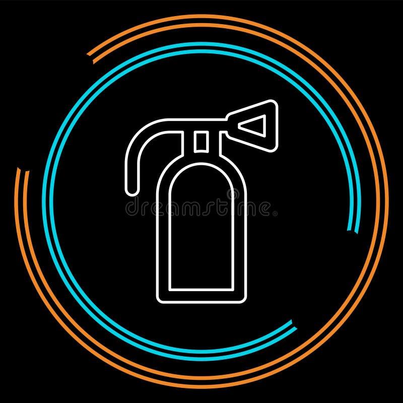 Icône d'extincteur - protection de symbole de sécurité illustration libre de droits