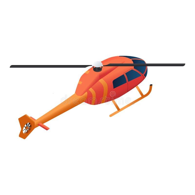 Icône d'hélicoptère de sapeur-pompier, style isométrique illustration stock