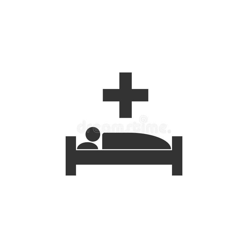 Icône d'hôpital plate illustration stock