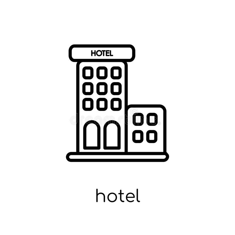Icône d'hôtel de collection d'hôtel illustration libre de droits