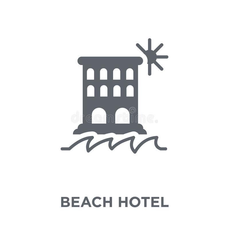 Icône d'hôtel de plage de collection d'hôtel illustration de vecteur