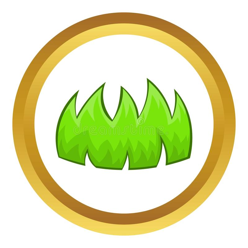 Icône d'herbe verte illustration libre de droits