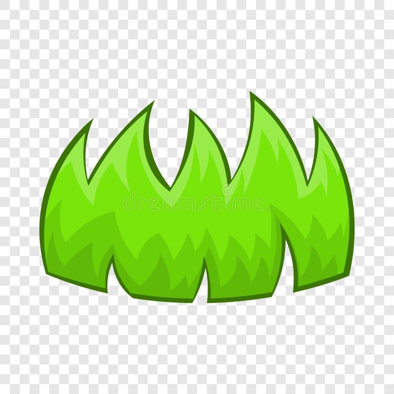 Icône d'herbe verte dans le style de bande dessinée illustration stock