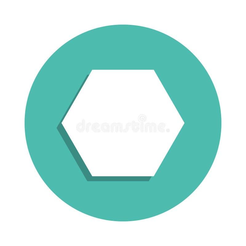 Icône d'hexagone E E illustration de vecteur