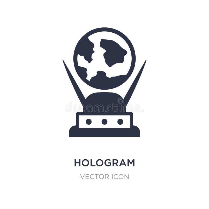 icône d'hologramme sur le fond blanc Illustration simple d'élément du futur concept de technologie illustration stock