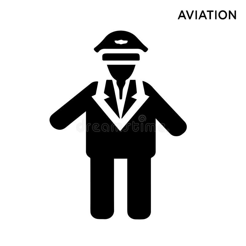 Icône d'homme d'aviation illustration stock