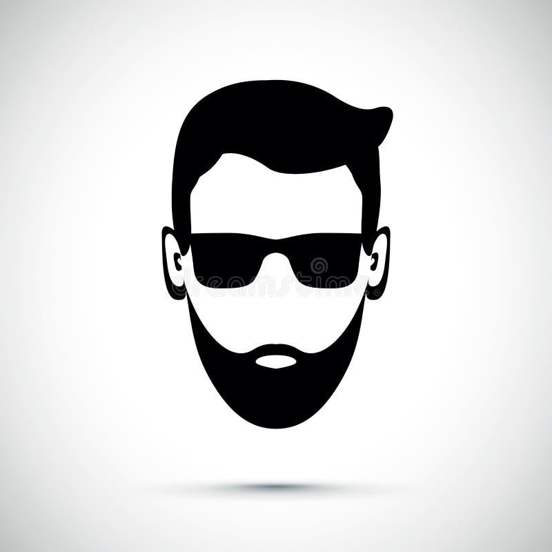 Icône d'homme de barbe illustration libre de droits