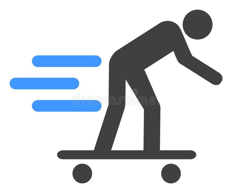 Icône d'homme de rouleau de Scate de vecteur illustration de vecteur