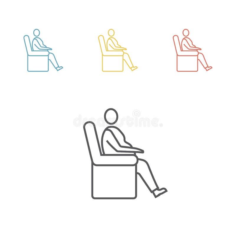 Icône d'homme d'obésité illustration stock