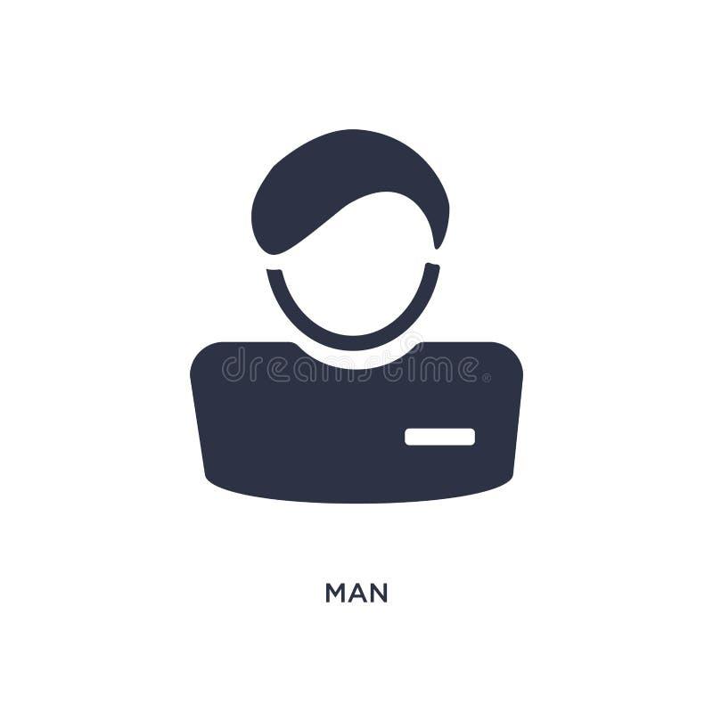 Icône d'homme sur le fond blanc Illustration simple d'élément de concept de ressources humaines illustration de vecteur