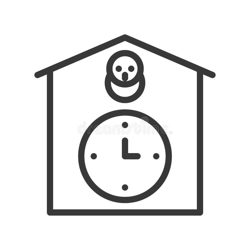 Icône d'horloge de coucou, pixel editable de course de conception d'ensemble parfait illustration de vecteur