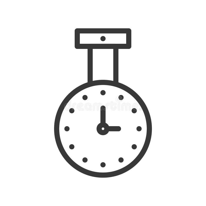 Icône d'horloge de décellulation, pixel editable de course de conception d'ensemble parfait illustration libre de droits