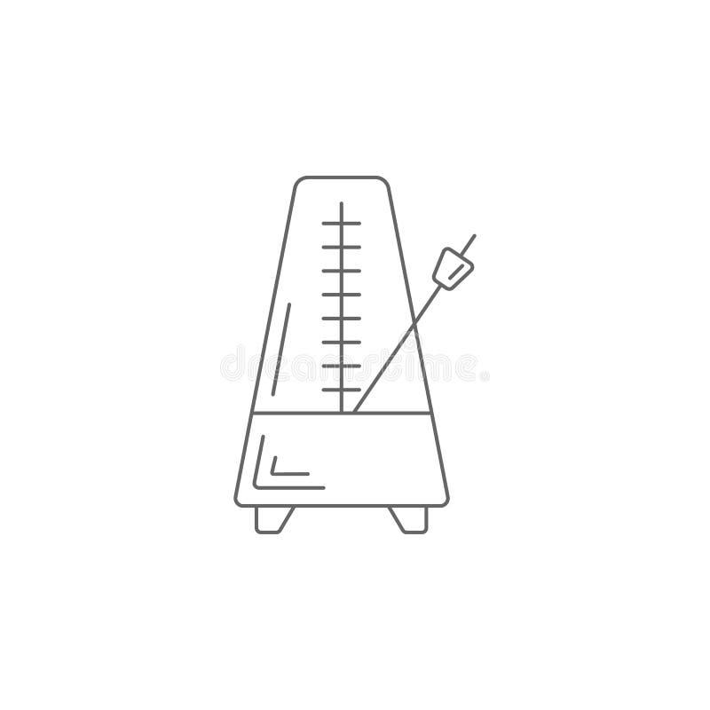 Icône d'horloge de pianiste Illustration simple d'élément Calibre de conception de symbole d'horloge de pianiste Peut être employ illustration libre de droits